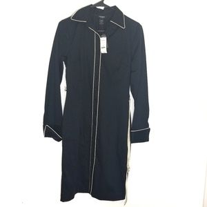Express stretch navy long sleeve button dress 5/6